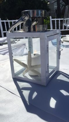 White Table Lantern option (these also come in dark blue)