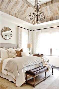 Most Beautiful Rustic Bedroom Design Ideas. You couldn't decide which one to choose between rustic bedroom designs? Are you looking for a stylish rustic bedroom design. We have put together the best rustic bedroom designs for you. Find your dream bedroom. Farmhouse Master Bedroom, Master Bedroom Design, Home Decor Bedroom, Modern Bedroom, Bedroom Ideas, Master Suite, Bedroom Furniture, Trendy Bedroom, Bedroom Classic