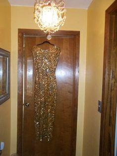 Great Gatsby Dress Amazing Gene Shelly's Vintage Gold Sequin Wool Dress | eBay