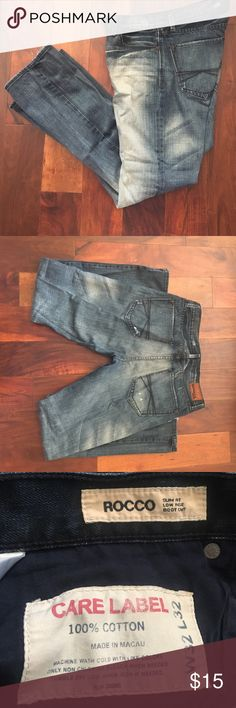👖 Men's Rocco Express jeans 👖 W32xL32 men's distressed jeans - gently worn. Slim fit, low rise, boot cut Express Jeans Bootcut