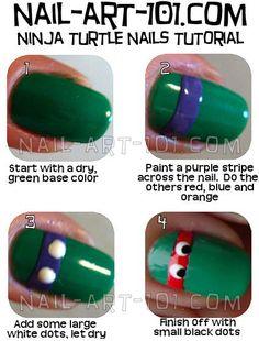 Ninja Turtle Nails Tutorial