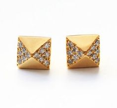 Pyramid Stud Earrings!