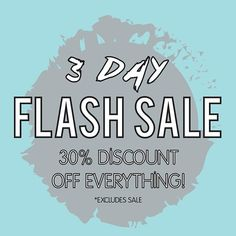 ATTENTION!! It's the last chance to enjoy Mary & Milly's 3 day FLASH SALE with 30% discount off everything, starting today!!! You just can't miss out on this fantastic offer! 21 Guildhall Street, Preston City Centre! Order shop online with FREE UK DELIVERY at www.maryandmilly.co.uk