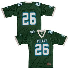 Nike® Adult Tulane Green Football Jersey