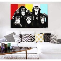 Tableau Pop Art Singe This is Monkey Tableau Pop Art, Arte Pop, Les Oeuvres, Decoration, Watercolor Paintings, Gallery Wall, Ainsi, Home Decor, Monkeys