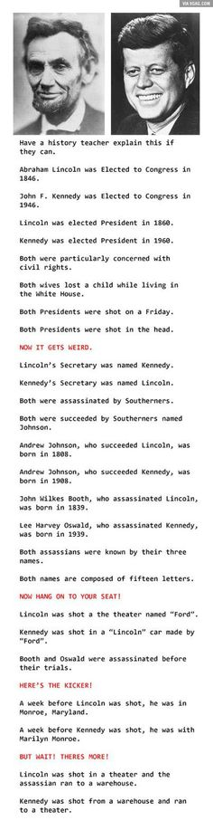 Some Really Strange Mind-Blowing Coincidences. - 9GAG