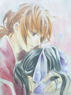 The first long manga series I owned Kenshin Y Kaoru, Kenshin Anime, Manga Art, Manga Anime, Anime Art, Kenshin Le Vagabond, Era Meiji, Samurai, Couple Manga