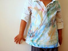 Sharpie Tie Dyed Shirt- Watercolor effect