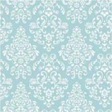 Damask Wallpaper Blue