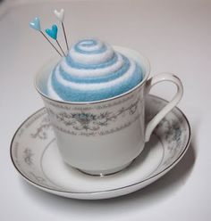 teacup pincushion- maybe a better one for my mil