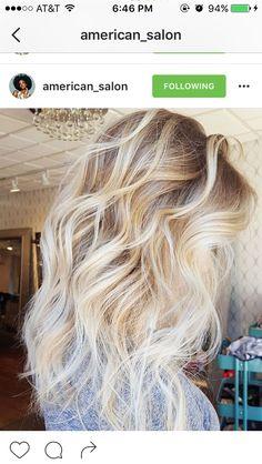 Medium length layered hair with ombré highlights