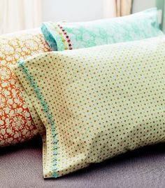 Head over to Craft for a downloadable project sheet showing how to make a pillow sham in just 15 minutes.  The project is an excerpt from the book Sewing in a Straight Line by Brett Bara.  Get the tutorial.