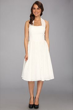 Unique Vintage Eyelet Flirty Cotton Swing Dress (for sale on Zappos!)