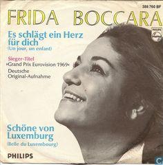 "Frida Boccara - ""Es schlägt ein Herz für dich"", one of the four wining songs of the Eurovision Song Contest 1969 for France (german version)"