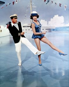 Gene Kelly and Shirley MacLaine. Gene Kelly and Shirley MacLaine. Hooray For Hollywood, Golden Age Of Hollywood, Vintage Hollywood, Classic Hollywood, Gene Kelly, Fred Astaire, Shall We Dance, Lets Dance, Tap Dance