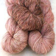 Hand Dyed Wool Silk Laceweight Yarn - Rose Quartz