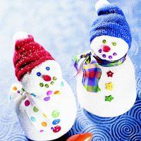 Snowmen from socks easy kids craft christmas