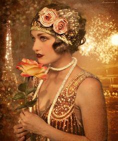 Photo: ♥••*´¨`*•.☆• Que hermosa y elegante la moda de los 20!!!!