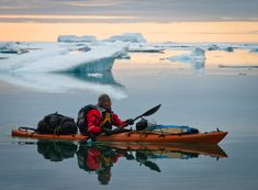 A picture of the Arctic from Ellesmere Island expedition. Eddie Bauer Be First. - A picture of the Arctic from Ellesmere Island expedition. Eddie Bauer Be First. Camping Tours, Canoe Camping, Kayak Tours, Canoe And Kayak, Kayak Fishing, Sea Kayak, Canoe Trip, Camping Gear, Kayaks