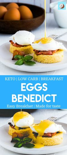 keto eggs benedict is one of the great kept recipes, completely Creamy and you could have it during Winter, but also throughout the year. This will be your new favorite keto breakfast recipe, and it's also Low Carb. #breakfast #Ketoeggs #hollandaise #sauce via @fatforweightlos