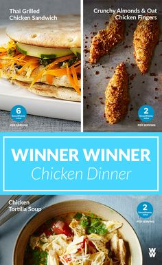 3 Winner Chicken Dinners   A trio of chicken dinners that are SURE to be a hit with the whole family!
