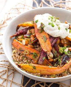 Heirloom carrots, or witch's fingers? This vegetarian recipe is perfect for celebrating Halloween!