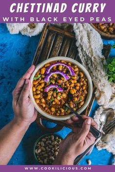 Instant Pot Chettinad Black Eyed Peas vegan curry is a delicious South Indian recipe. This meatless masala curry is perfect for weeknights! It tastes best with roti/rice and can also be made on the stovetop. #blackeyedpeas #lobia #karamani #Instantpot #Indian #vegan #curry #pressurecooker #Chettinad #meatless #weeknightdinner #easyrecipe Masala Curry, Chaat Masala, Garam Masala, Delicious Vegan Recipes, Vegetarian Recipes, Amazing Recipes, Easy Potato Salad, Curry Recipes, Bean Recipes