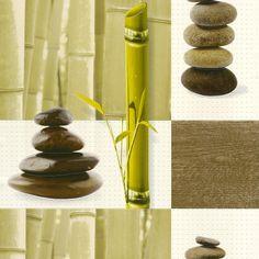 Tapete grün braun Natur Aqua Relief Rasch 825701
