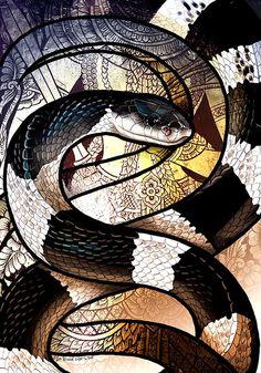 49 Blue Krait by Culpeo-Fox on DeviantArt Snake Wallpaper, Reptiles, Lizards, Money Tattoo, Gifs, Snake Art, Immaculate Conception, Figure Drawing, Occult