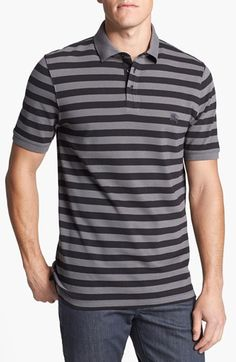 Burberry Brit 'Somers' Trim Fit Piqué Polo available at #Nordstrom