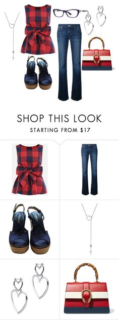 """Daily Duds"" by jfcheney ❤ liked on Polyvore featuring Joe's Jeans, Giorgio Armani, Gucci and Vogue Eyewear"