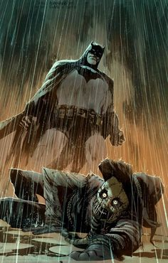 Artwork You ve ingested enough toxins to drive ten men insane What are you Batman v Scarecrow by Rafael Albuquerque colored by me Stay safe today everyone Happy Batman Comic Art, Batman Comics, Dc Comics, Batman Dark, Batman And Superman, Batman Stuff, Rafael Albuquerque, Scarecrow Batman, Gotham Villains