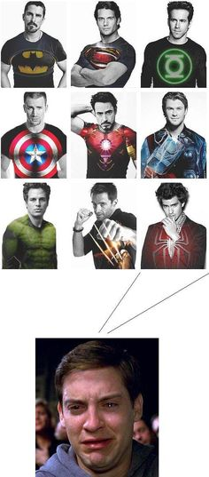 Aww that's sad!  I'll take batman, captain America and iron man; to start lol