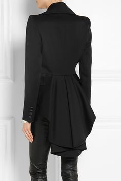 Alexander McQueen | Crystal-embellished wool tailcoat | NET-A-PORTER.COM