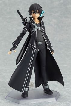 Kirito figma, from Sword Art Online.
