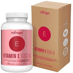(120 Softgels) Natural Vitamin E Capsules 1000 IU by Natrogix - Mixed D-Alpha Tocopherol and Mixed Tocopherols - Antioxidant for Healthy Skin, Eyes and Immune System Booster  WHY VITAMIN E AS D-ALPHA TOCOPHEROL PLUS D-GAMMA, D-DELTA & D-BETA TOCOPHEROL IS