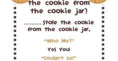 Who Stole The Cookie From The Cookie Jar Lyrics Beauteous Who Took The Cookie  Teaching Tips  Kindergartenklub Decorating Design