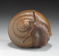 Tadatoshi - Snail Netsuke - early 19th Century LACMA