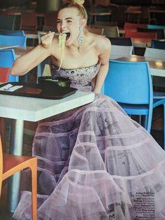 Elle Fanning, November 2019 Iconic Dresses, Nice Dresses, Prom Dresses, Formal Dresses, Instyle Magazine, Cosmopolitan Magazine, Look Fashion, High Fashion, Pamela Hanson