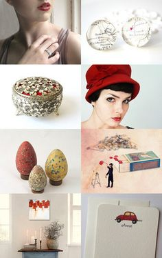 ... there is always red, etsy treasury