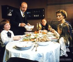 Still from the film Diabelskie Szczęście, photo: Filmoteka Narodowa / Slovak Recipes, Ukrainian Recipes, Russian Recipes, French Recipes, Russian Foods, Christmas Eve Dinner, Christmas Dishes, Christmas Christmas, Christmas Thoughts