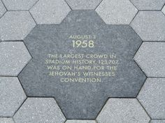 This is really cool! Jehovah's Witnesses are mentioned in a plaque at the new Yankee Stadium in New York- quite a history we have :)