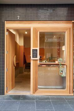 Small Restaurant Design, Small Cafe Design, Restaurant Interior Design, Shop Front Design, Small Store Design, Bakery Shop Design, Coffee Shop Interior Design, Restaurant Door, Cafe Door