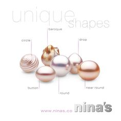 All the different shapes of pearls provide so many possibilities for unique jewellery designs. #pearljewellery