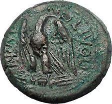 AMPHIPOLIS in MACEDONIA 1stCenBC Zeus Eagle Authentic Ancient Greek Coin i55528
