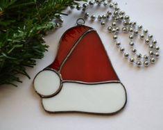Lot de 3 verre vitrail décoration de Noël ornement par ZangerGlass