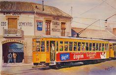Tranvía en Avenida Calvo Sotelo, esquina con Andaluces.