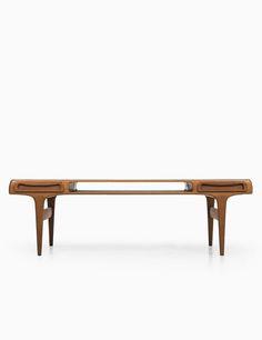 Johannes Andersen; Teak Coffee Table for Trensum, 1960s. Via Studio Schalling.