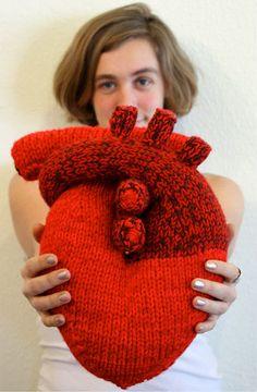 Heart knit / Cœur tricot