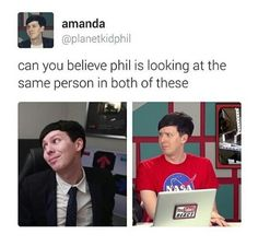 Character development<--- wHERE THE HELL ARE HIS EYEBROWS IN THE SECOND PICTURE?!? PHIL LESTER YOU ARE NOT MATT SMITH